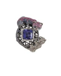 Wendy Yue | Blue Sapphire and Tanzanite Ring | Lyst