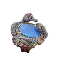 Wendy Yue - Blue Boulder Opal Swan Ring - Lyst
