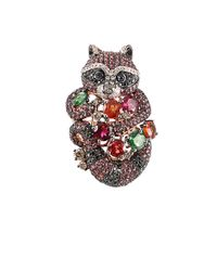 Wendy Yue - Multicolor Brown Sapphire Raccoon Ring - Lyst