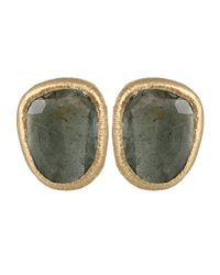 Yvel - Green Aquamarine Earrings - Lyst