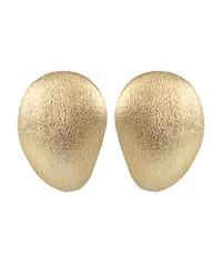 Yvel | Metallic Medium Handmade 18k Yellow Gold Earrings | Lyst