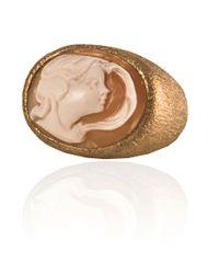Amedeo - Metallic Zodiac Cameo Stone Ring - Lyst