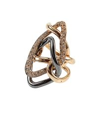 Antonini | Metallic Diamond Milano Rose Gold Ring | Lyst