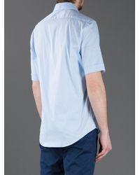 Balenciaga - Sky Blue Short Sleeve Shirt for Men - Lyst
