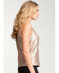 Bebe - Metallic Faux Leather Sequin Tank - Lyst