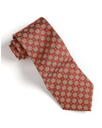 Burma Bibas - Red Medallion Print Silk Tie for Men - Lyst