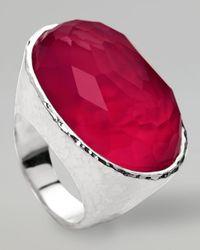 Ippolita   Metallic Wonderland Oval Ring Raspberry   Lyst