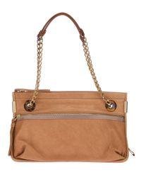 Lanvin | Brown Chain Shoulder Bag | Lyst