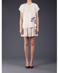 Lauren Moffatt - Multicolor Heart Print Mini Skirt - Lyst
