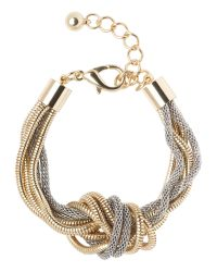 Jaeger | Gray Knotted Snake Chain Bracelet | Lyst