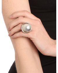 BaubleBar - Metallic Silver Button Ring - Lyst