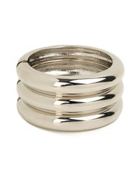 BaubleBar | Metallic Silver Stack Cuff | Lyst