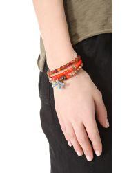 Chan Luu - Orange Beaded Bracelet Set - Lyst