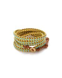 Chan Luu - Blue Beaded Wrap Bracelet - Lyst