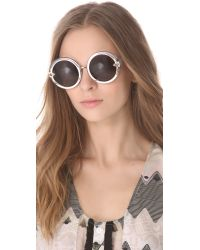 Karen Walker - Brown Orbit Sunglasses - Lyst