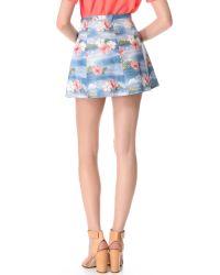 Love Leather - Blue Hawaiian Punch A Line Mini Skirt - Lyst