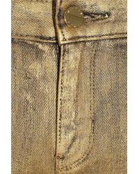 MICHAEL Michael Kors | Metallic Mid-rise Skinny Jeans | Lyst