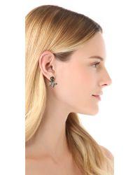 Pamela Love - Metallic Rose Earrings - Lyst