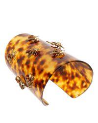 Alexander McQueen - Metallic Tortoiseshell Bee Plexiglas Cuff - Lyst
