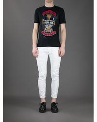 DSquared² | Black - Graffiti T-shirt - Men - Cotton - M for Men | Lyst