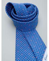 Ferragamo - Blue Gancino Tie for Men - Lyst