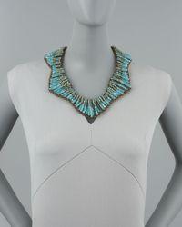 Panacea - Blue Beaded Statement Necklace - Lyst