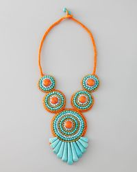 Panacea | Blue Tribal Rope Bib Necklace | Lyst
