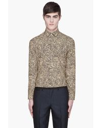KENZO | Yellow Topographic Slim Shirt for Men | Lyst