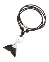 Tateossian - Black Onyx Whale Tail Necklace for Men - Lyst