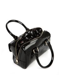 Ted Baker - Black Marquez Quilted Mini Bowler - Lyst