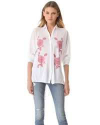 Wildfox - White Sunday Button Down Shirt - Lyst