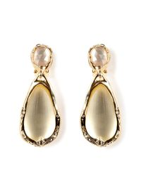 Alexis Bittar - Metallic Ivory Ophelia Goldtoned Drop Clip Earring - Lyst