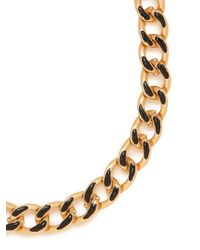 BaubleBar - Black Gloss Enamel Necklace - Lyst