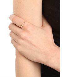 BaubleBar - Metallic Ariel Gordon Rose Love Knot Ring - Lyst