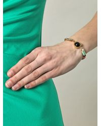 Lizzie Fortunato - Multicolor Onyx and Leather Wrap Bracelet - Lyst