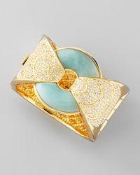 Rachel Zoe | Metallic Amazonite Hinge Cuff Bracelet | Lyst
