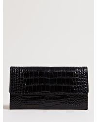 Dries Van Noten - Black Reptile Print Wallet - Lyst