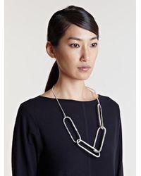 Dries Van Noten - Metallic Womens Oversized Link Necklace - Lyst