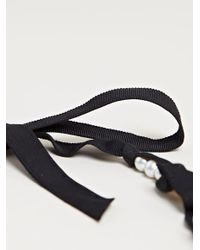 Lanvin - Black Pearl and Ribbon Necklace - Lyst