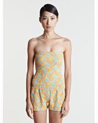 Lanvin - Orange Short Jumpsuit - Lyst