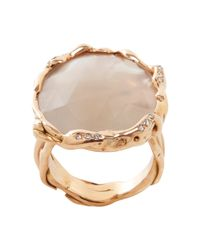 Lucifer Vir Honestus - Metallic Ice Moonstone Diamond Ring - Lyst
