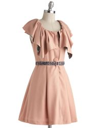 ModCloth - Pink Countryside By Convertible Coat - Lyst