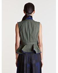 Sacai - Blue Embroidered Waistcoat - Lyst