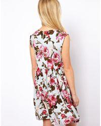 ASOS - Multicolor Smock Dress in Vintage Print - Lyst