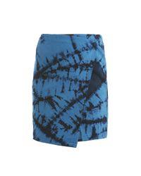 Boy by Band of Outsiders | Blue Tie Dye Wrap Skirt | Lyst
