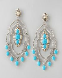John Hardy | Blue Batu Dot Morocco Chandelier Earrings | Lyst