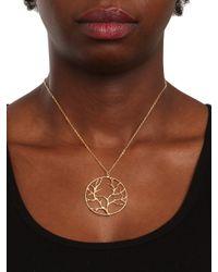 BaubleBar - Metallic Gold Branch Pendant - Lyst