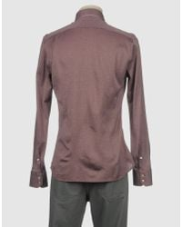 Del Siena - Purple Long Sleeve Shirt for Men - Lyst