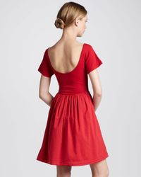 French Connection | Red Samba Aline Dress | Lyst
