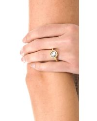 Marc By Marc Jacobs | Black Exploded Bow Tiny Crystal Ring | Lyst